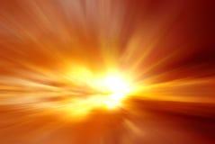Den blodiga solnedgången Royaltyfri Foto