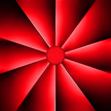 En röd fan på en mörk bakgrund Royaltyfri Fotografi