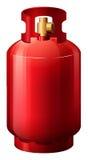 En röd gascylinder Royaltyfri Foto