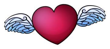 En röd hjärta Fotografering för Bildbyråer