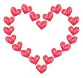 En röd hjärta Arkivbild