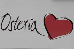 En röd hjärta för en romantisk afton Royaltyfri Bild