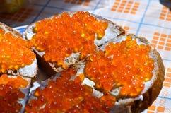 En röd kaviar Arkivfoto