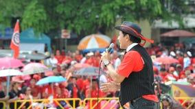 Den röda skjortan samlar i Bangkok Royaltyfri Bild