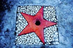 en röd stjärna royaltyfria foton