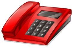 En röd telefon Royaltyfri Fotografi