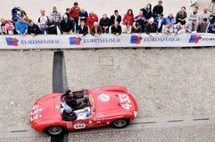 En röda Maserati 150S Fotografering för Bildbyråer