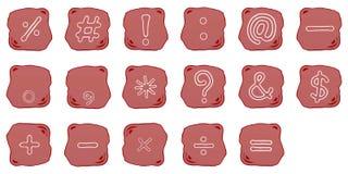 En rödaktig Brown sten av matematiskt vektor illustrationer