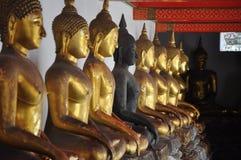 En rad av diagramet av Buddha Royaltyfri Bild