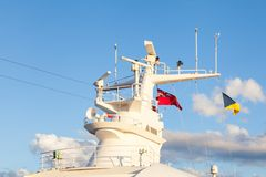 En radar för skepp` s och ett navigeringsystem Arkivbilder