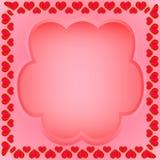 En ram av hjärtor med ett fält för text royaltyfri foto