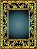 en ramowy złota wzoru warzywo Obrazy Stock