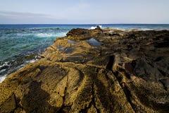 En rcoastline et été de Lanzarote photos stock