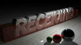 EN RECEVANT 3D écrivez et un rectangle rouge grandissant devant lui - 3D rendant la vidéo