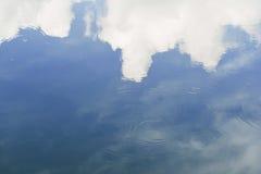 En reflexion fördunklar på vattnet i aftonen Royaltyfri Foto