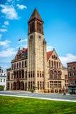 En regeringbyggnad i Albany, New York arkivbilder