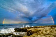 En regnbåge för San Diego Arkivbild