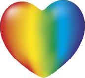 En regnbågehjärta arkivbild