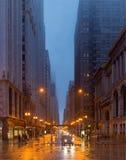 En regnig dag i Chicago, illinois, USA fotografering för bildbyråer