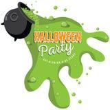 En renversant la partie de Halloween de chaudron invitez Photo stock