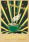 En retro kopp kaffe Royaltyfria Bilder