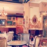 En retro kopp kaffe Royaltyfri Bild