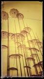 En Retro plats mycket av paraplyer arkivfoton