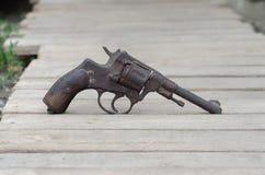 En revolver av systemet revolvret av den efterkrigs- eran Arkivfoto