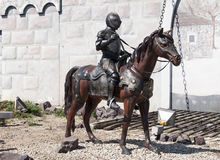 En riddare på en häst Royaltyfri Bild