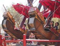 En ritt för piratkopieraskepp på den Arizona renässansfestivalen Royaltyfri Fotografi