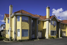 Moderna Townhouses Arkivfoto