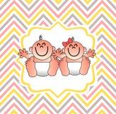 En rolig baby showerräkning vektor illustrationer