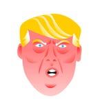 En rolig illustration av en ilsken president av Amerikas förenta stater, Donald Trump vektor illustrationer