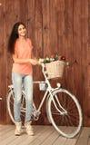 En romantisk ung kvinna Arkivfoto