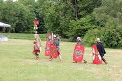 En romersk cohort Royaltyfria Bilder