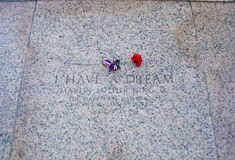 En ros i Abraham Lincoln Memorial Arkivfoton