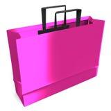 En rosa pappers- påse Fotografering för Bildbyråer
