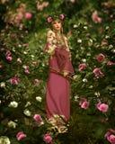 En Rose Garden, 3d CG Foto de archivo libre de regalías