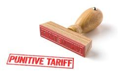 En rubber stämpel på en vit bakgrund - straff- tariff royaltyfri bild