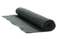 En rulle av svart icke-snedsteg gummimatting Royaltyfria Foton