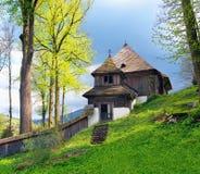 En sällsynt UNESCOkyrka i Lestiny, Slovakien Fotografering för Bildbyråer