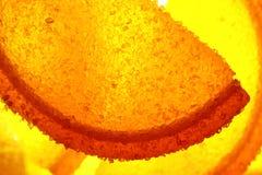 En söt efterrätt Marmeladskivor och gelébönor Stycken av söta lobules Arkivfoton