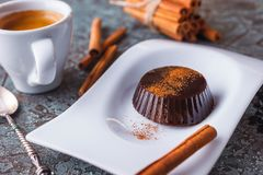 En söt kaffegelé är den italienska efterrätten Royaltyfri Foto