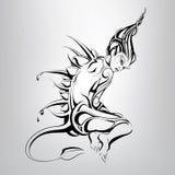 En sagolik varelse också vektor för coreldrawillustration royaltyfri illustrationer