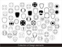 Samling av designbeståndsdelar Arkivfoto