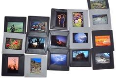 En samling av glidbanor Arkivfoto