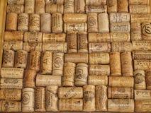 En samling av korkar från vinflaskor Fotografering för Bildbyråer