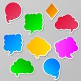 En samling av samlingen för vektoranförande- och tankekommunikationsbubblesA av vektoranförande och tankekommunikationen bubblar stock illustrationer