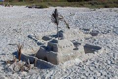 En sandslott på Bonita Beach Royaltyfria Bilder