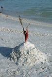 En sandslott på Bonita Beach Royaltyfria Foton